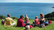 picnic on cliff top